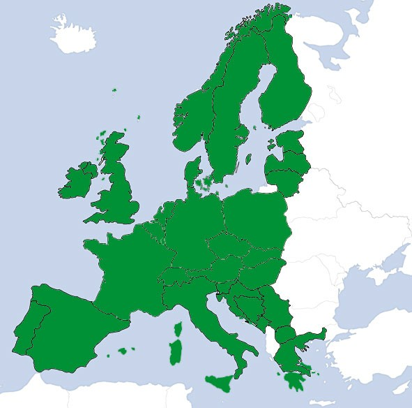 JeppView VFR: Europa