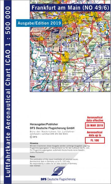 ICAO-Karte, Blatt Frankfurt (Ausgabe 2019), Motorflug 1:500.000