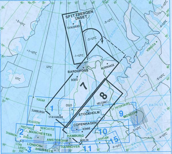 IFR-Streckenkarte Europe - Unterer Luftraum - E(LO) 7/8