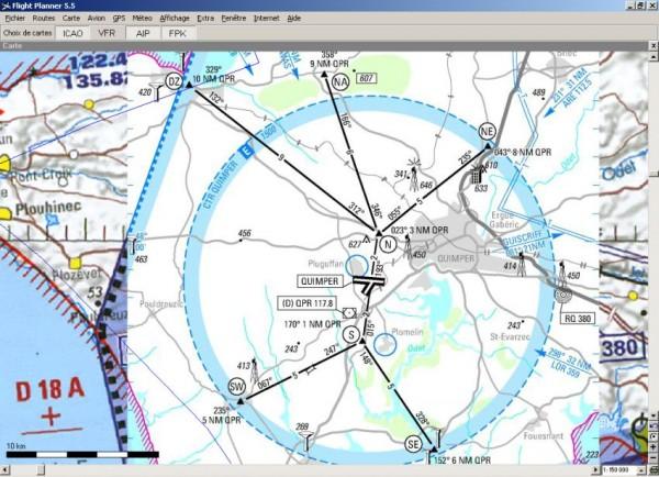 Flight Planner - VFR-Anflugkarten - AIP Frankreich
