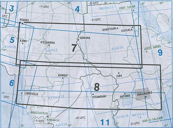 IFR-Streckenkarte Africa - Oberer/Unterer Luftraum - A(H/L) 7/8