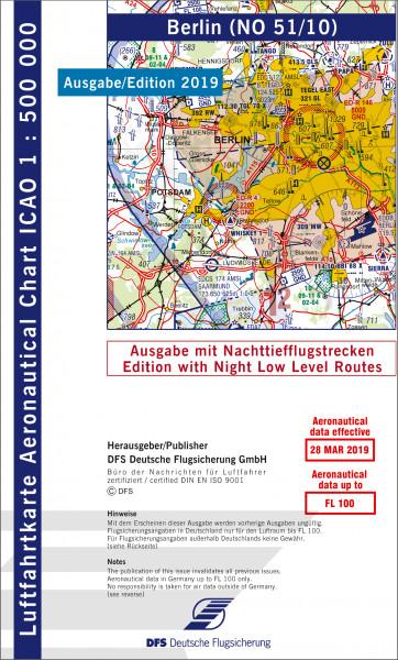 ICAO-Karte, Blatt Berlin (Ausgabe 2019), Nachttiefflugstrecken 1:500.000