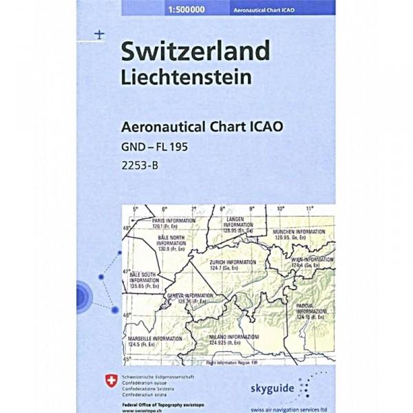 ICAO-Karte Schweiz & Liechtenstein (Ausgabe 2020)