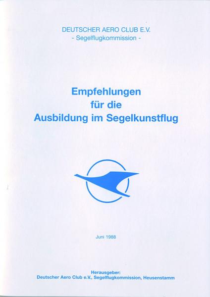 Empfehlung für die Ausbildung im Segelkunstflug