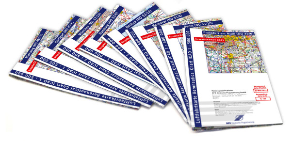 ICAO-Karten-Set Deutschland 1:500.000, Komplettsatz, 8 Blatt (Ausgabe 2021)