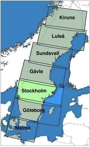 ICAO-Karte Schweden: Stockholm Ausgabe 2021