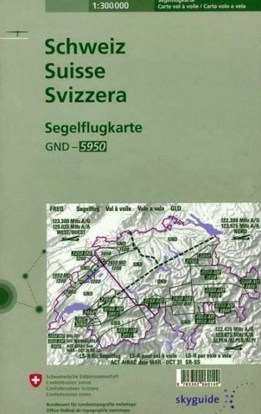 Segelflugkarte Schweiz (Ausgabe 2017)