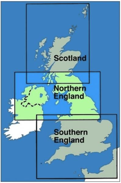 ICAO-Karte Großbritannien: Nordengland + Nordirland 2018