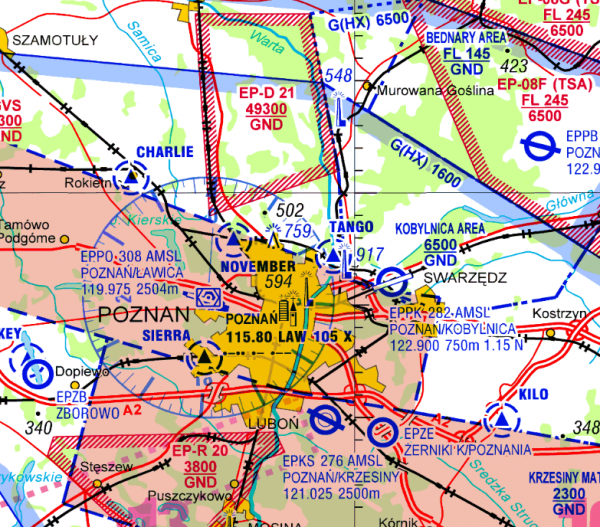 Flight Planner - Visual 500 - Poland inkl. VFR-Anflugkarten