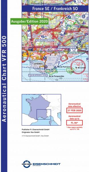 VFR 500 France, Blatt Southeast (Ausgabe 2020)
