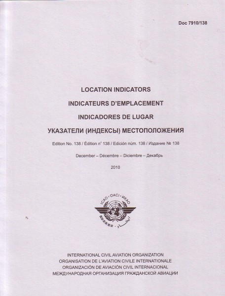 ICAO Location Indicators (DOC 7910)