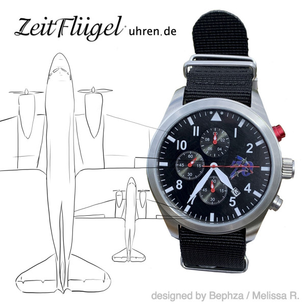 Zeitflügel Fliegeruhr Pilotenuhr Berlin Airlift 70