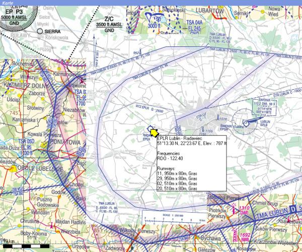 Flight Planner - VFR-Anflugkarten - AIP Polen