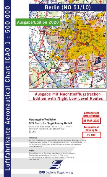ICAO-Karte, Blatt Berlin (Ausgabe 2020), Nachttiefflugstrecken 1:500.000