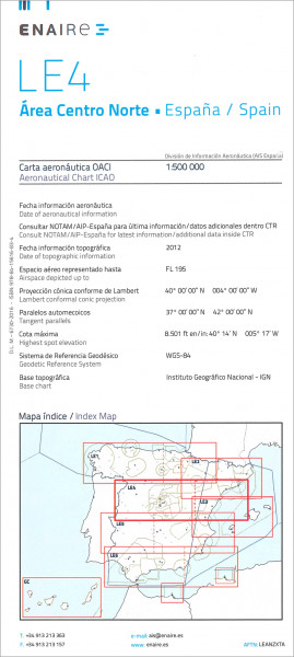 ICAO-Karte Spanien LE4 Area Centro Norte