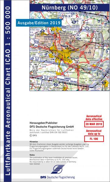 ICAO-Karte, Blatt Nürnberg (Ausgabe 2019), Motorflug 1:500.000