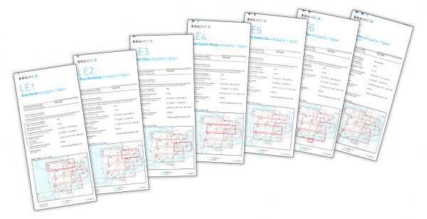 ICAO-Karten Spanien Set