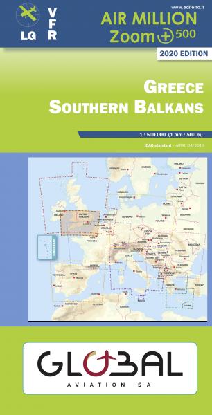 AIR MILLION: VFR-Zoom-Karte Greece / Southern Balkans 1:500.000 (Vorbestellung)
