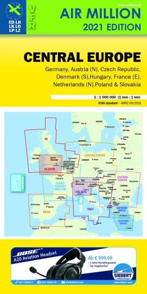 AIR MILLION: VFR-Karte Central Europe 1:1.000.000 (Vorbestellung)