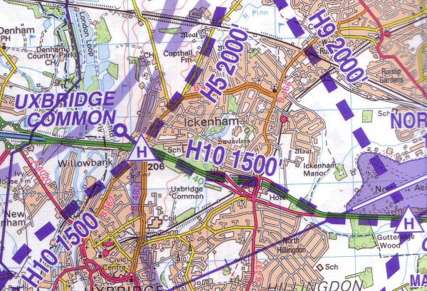Helicopter Routes in the London Control Zone