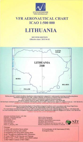 VFR Aeronautical Chart - Lithuania 1:500:000