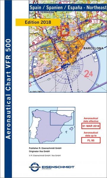 VFR 500 Spain, Blatt Northeast (Ausgabe 2018/19)