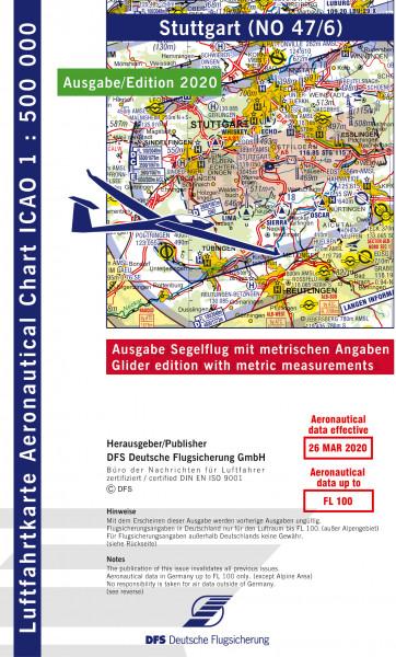 ICAO-Karte, Blatt Stuttgart (Ausgabe 2020), Segelflug 1:500.000