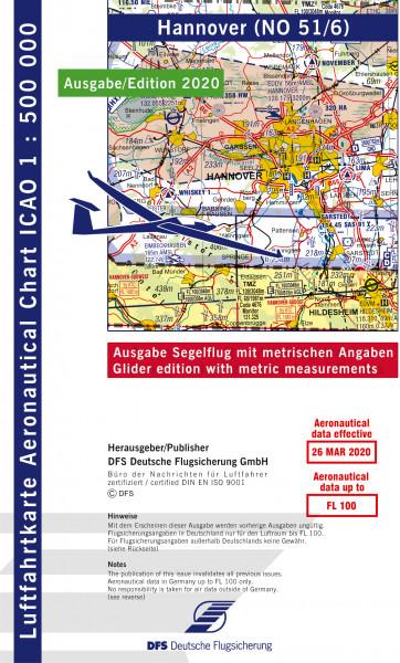 ICAO-Karte, Blatt Hannover (Ausgabe 2020), Segelflug 1:500.000