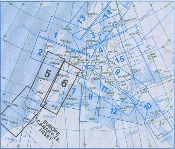 IFR-Streckenkarte - Oberer Luftraum E(HI) 5/6