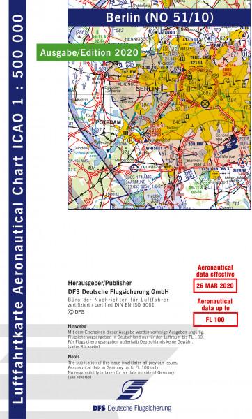 ICAO-Karte, Blatt Berlin (Ausgabe 2020), Motorflug 1:500.000