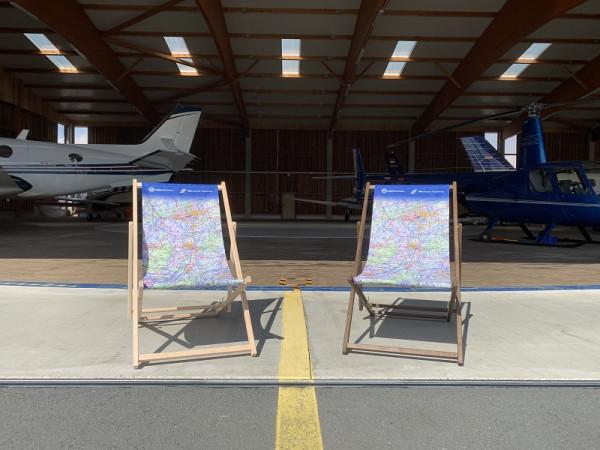 Liegestuhl im ICAO-Kartendesign