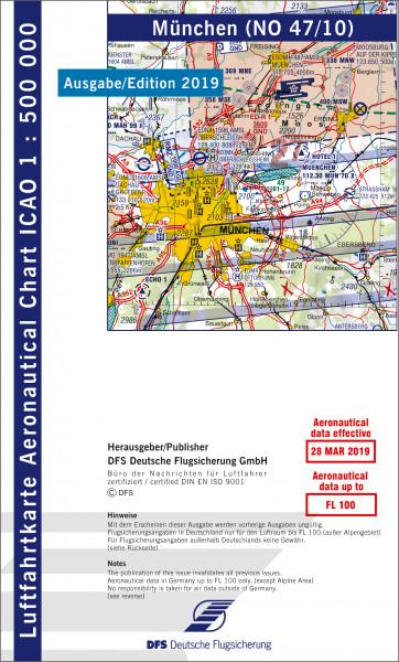 ICAO-Karte, Blatt München (Ausgabe 2019), Motorflug 1:500.000