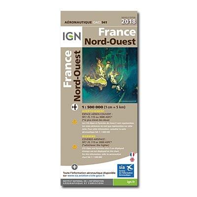 ICAO-Karte Frankreich 941: Nordwest (2018)