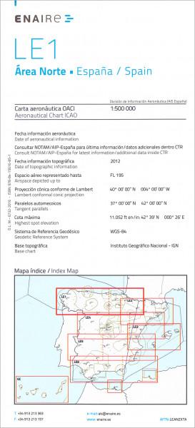 ICAO-Karte Spanien LE1 Area Norte 2018