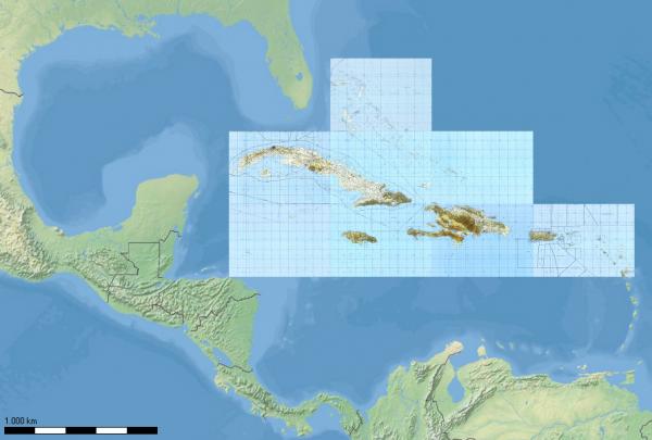 TPC-Karten - Karibik für Flight Planner