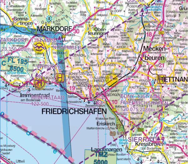 Flight Planner - Deutsche Generalkarte mit FS-Aufdruck, Ausgabe 2016