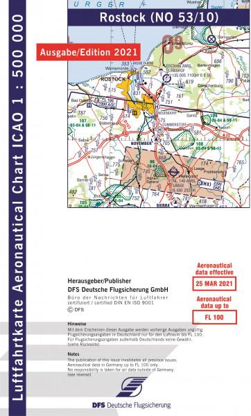 ICAO-Karte, Blatt Rostock (Ausgabe 2021), Motorflug 1:500.000