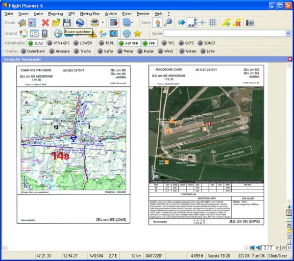 Flight Planner - VFR-Anflugkarten - AIP Austria