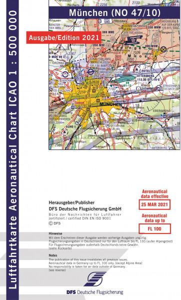 ICAO-Karte, Blatt München (Ausgabe 2021), Motorflug 1:500.000