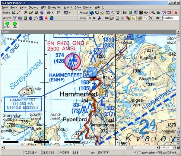 Flight Planner - ICAO-Karte - Norwegen