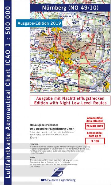 ICAO-Karte, Blatt Nürnberg (Ausgabe 2019), Nachttiefflugstrecken 1:500.000
