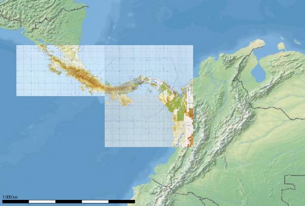TPC-Karten - Mittelamerika für Flight Planner