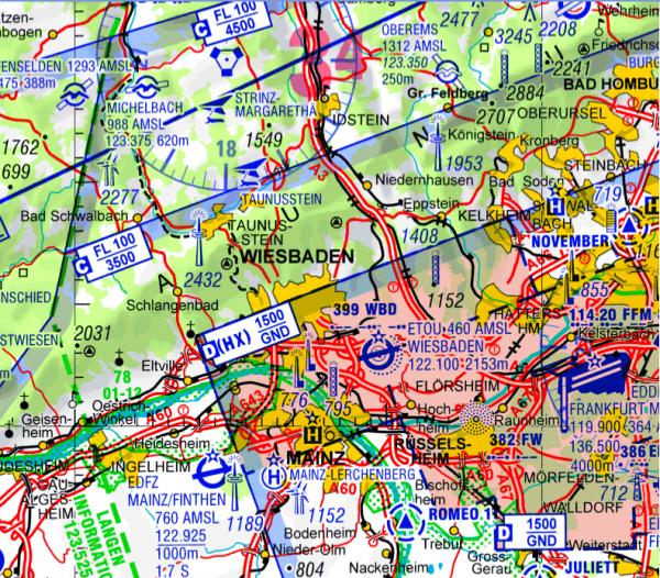 ICAO-Karte - Deutschland (Ausgabe 2019) für Flight Planner