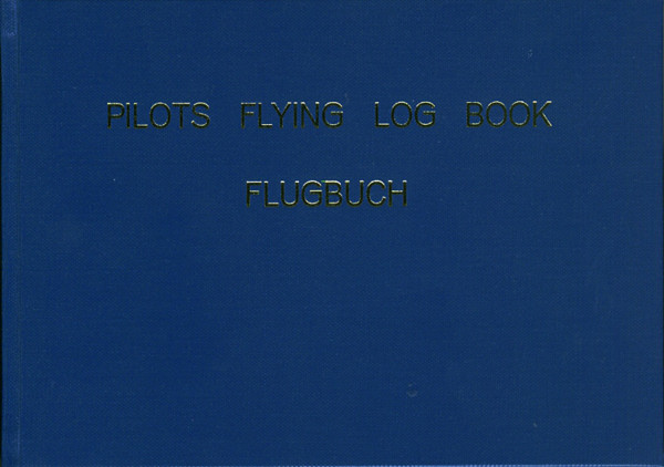 Pilots Flying Log / DIN A5 - BLAU - Motorflug