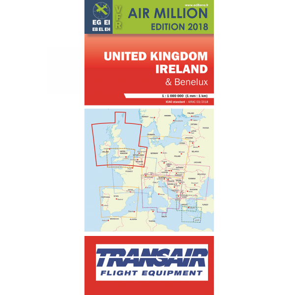 AIR MILLION: VFR-Karte United Kingdom / Ireland 1:1.000.000