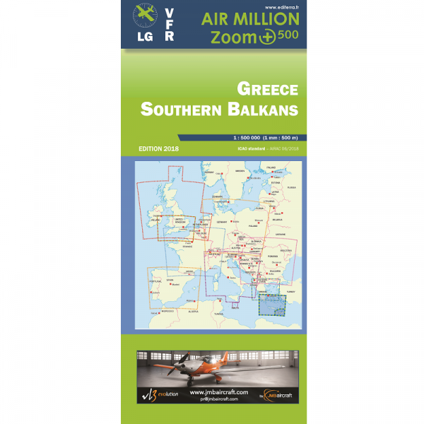 AIR MILLION: VFR-Zoom-Karte Greece / Southern Balkans 1:500.000