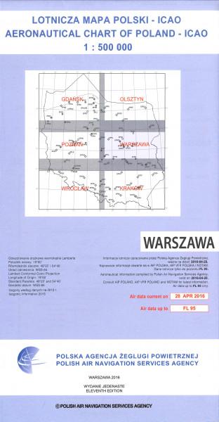 ICAO-Karte Polen Warszawa