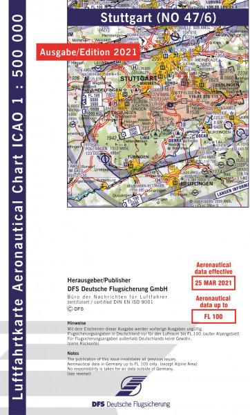 ICAO-Karte, Blatt Stuttgart (Ausgabe 2021), Motorflug 1:500.000