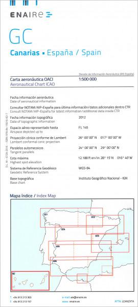 ICAO-Karte Spanien GC Canarias Ausgabe 2018