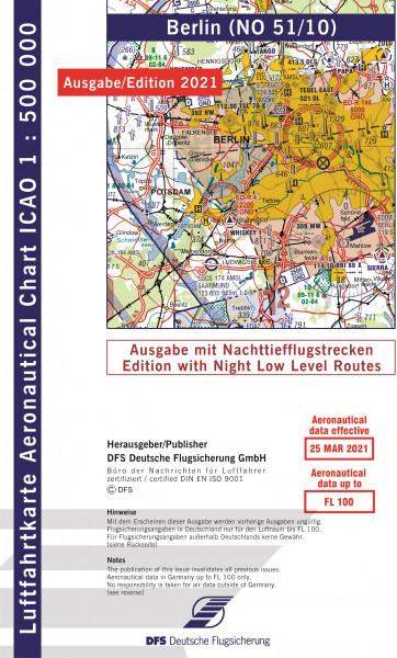 ICAO-Karte, Blatt Berlin (Ausgabe 2021), Nachttiefflugstrecken 1:500.000